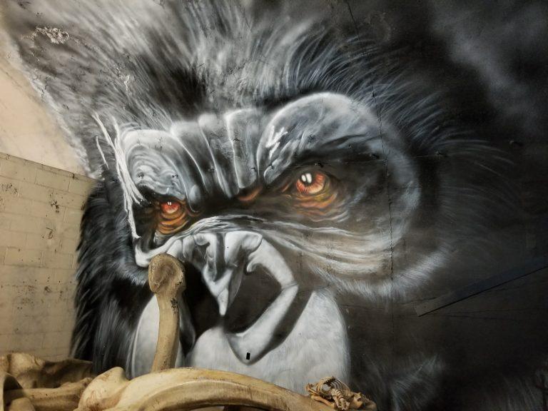 クアロアランチ。映画「キンクコング~髑髏島の巨人~」壁画