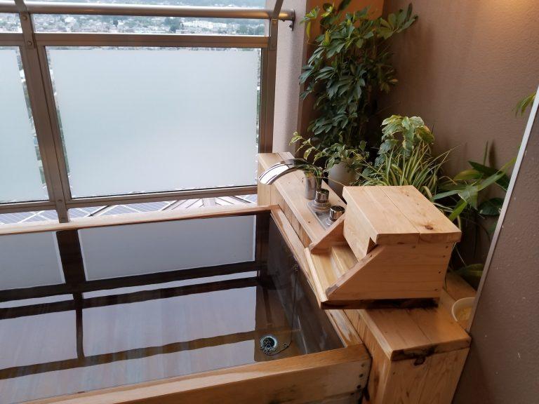 「ナチュラルファームシティ農園ホテル」部屋についている露天風呂