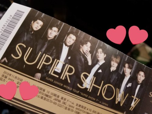 SUPER JUNIORSUPERSHOWチケット