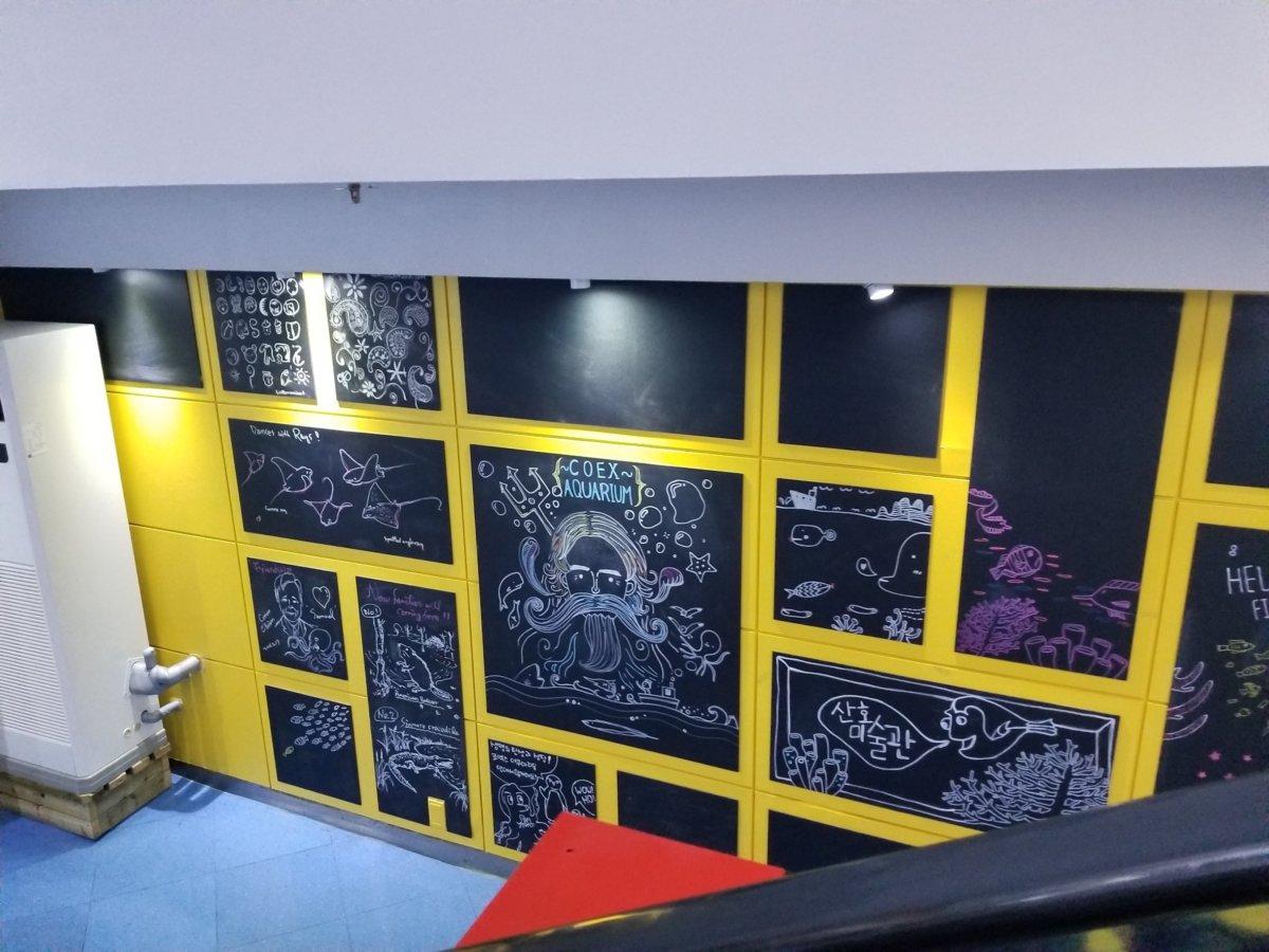 COEX ARARIUM(コエックス・アクアリウム)入口にある黒板