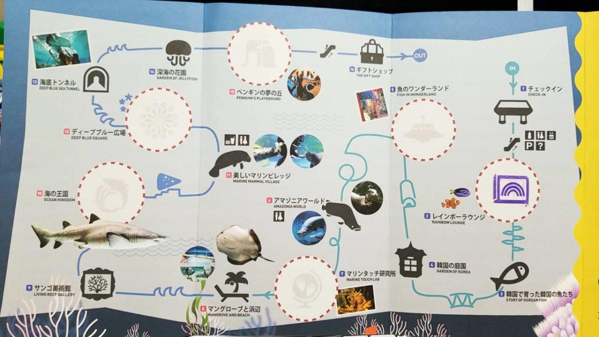 COEX ARARIUM(コエックス・アクアリウム)パンフレット:日本語版