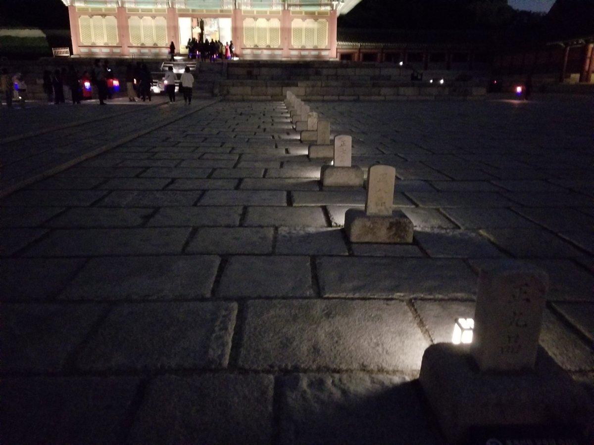 昌徳宮:仁政殿(インジョンジョン) の広場