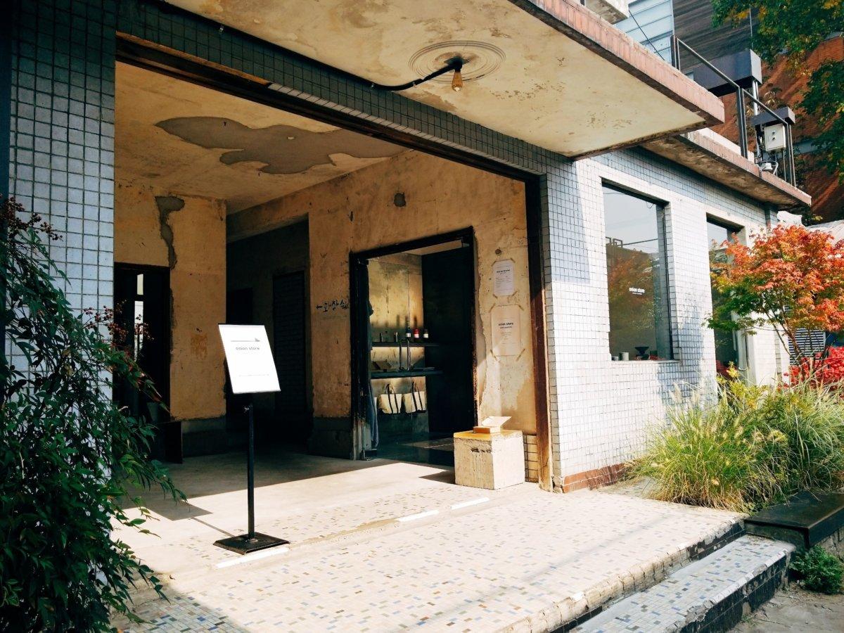 チャンミンゆかりのカフェcafeonion(カフェオニオン):カフェ入口