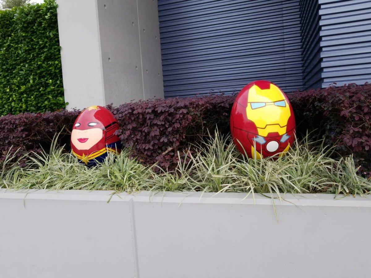アイアンマン&キャプテンマーベルイースターエッグ(香港ディズニー)
