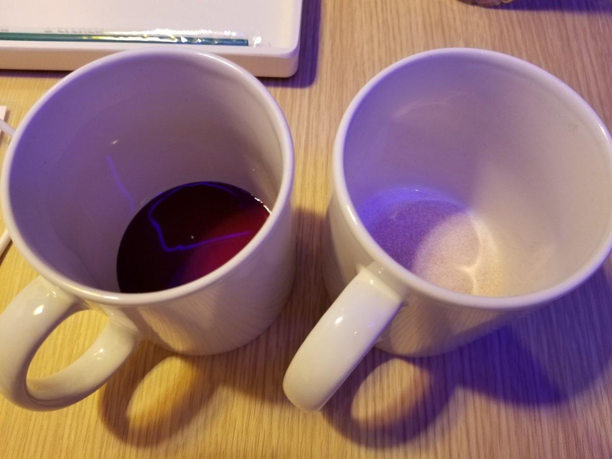 オミジャ茶飲み比べ液体VS粉