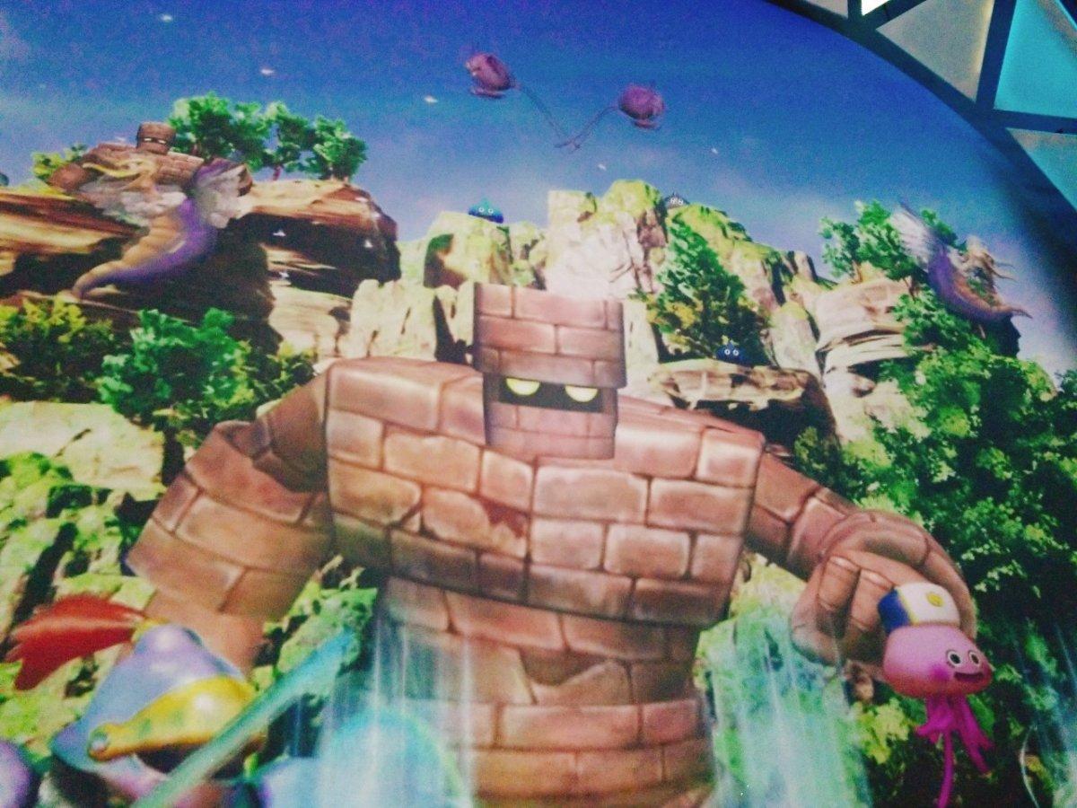VR ZONE SHINJUKU。ドラクエ映像ゴーレムがカッコいい