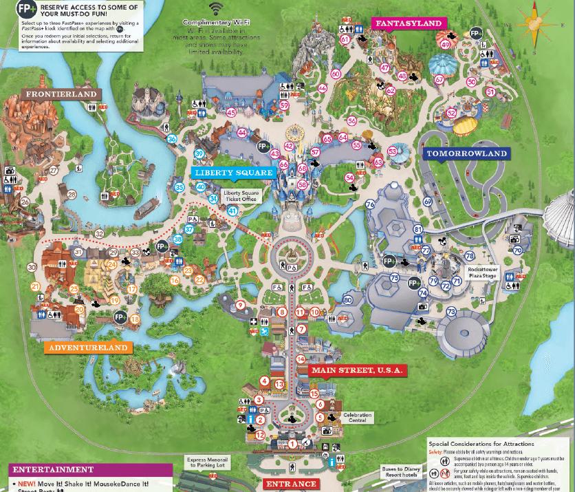 Magic Kingdom Park(マジカルキングダム)マップ