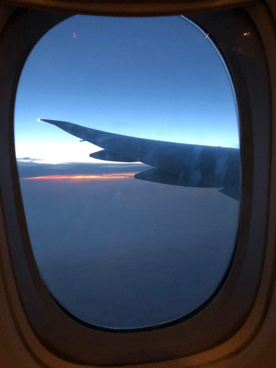 途中の空。綺麗だなぁ…:WDW&UORアメリカ新婚旅行
