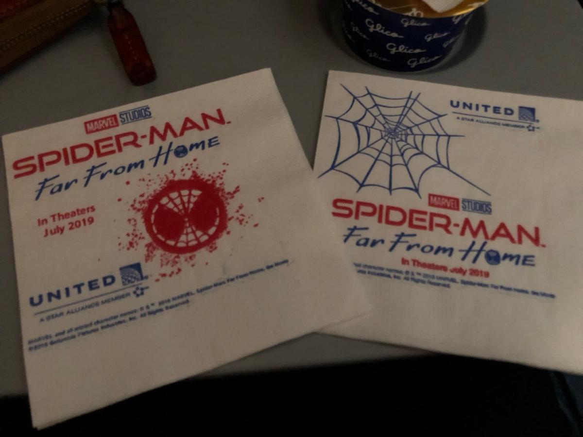 紙ナプキンもスパイダーマン。記念に持ち帰ろう:WDW&UORアメリカ新婚旅行