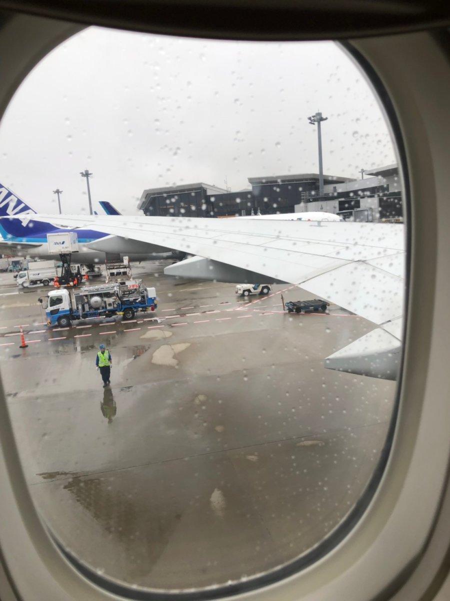 成田空港は雨でした:WDW&UORアメリカ新婚旅行