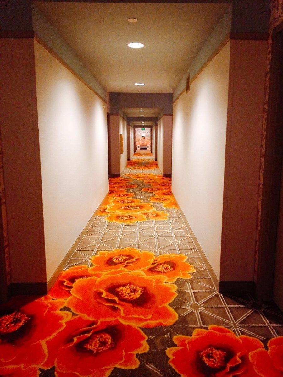 ロウズロイヤルパシフィックリゾート@UOR廊下もリゾート感たっぷり:WDW&UORアメリカ新婚旅行