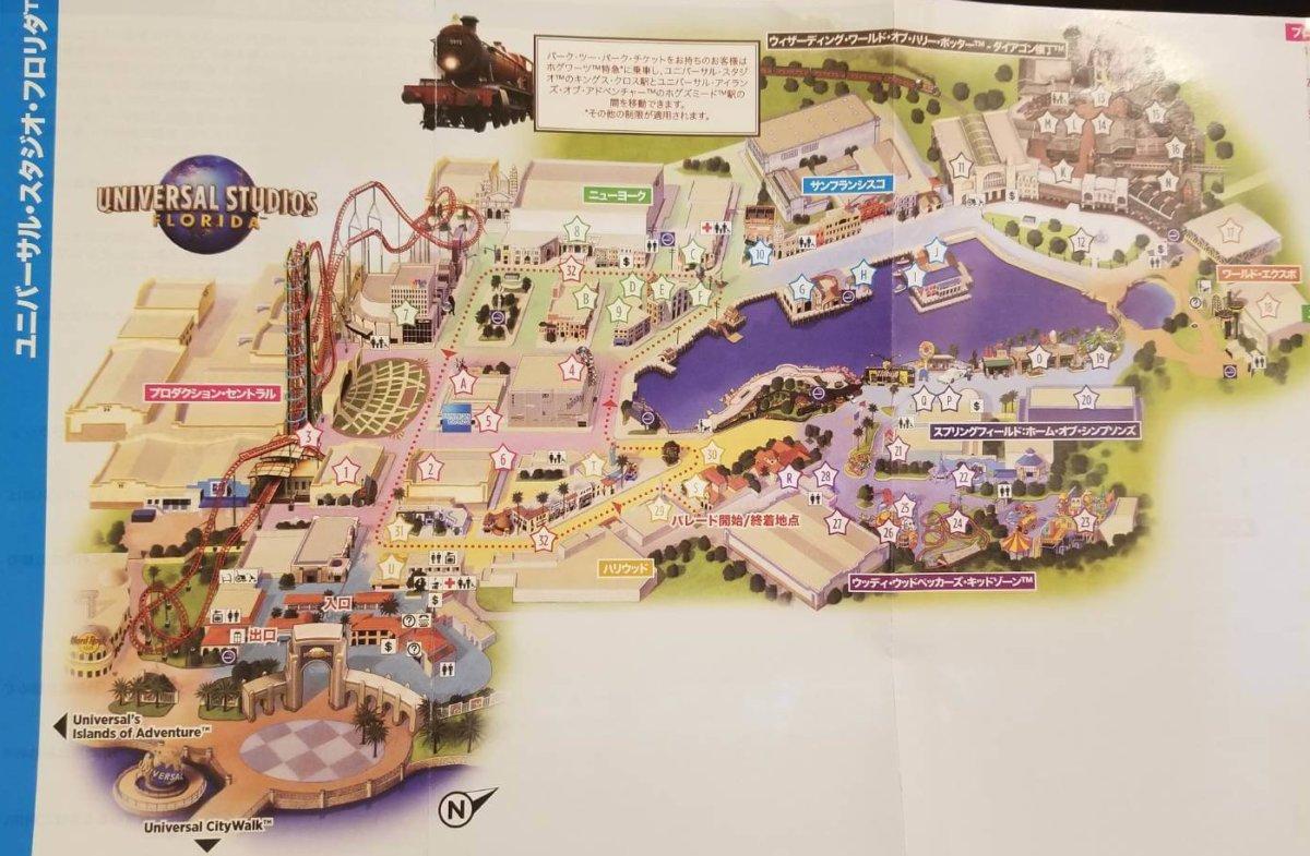 全体マップ:ユニバーサル・スタジオ・フロリダ
