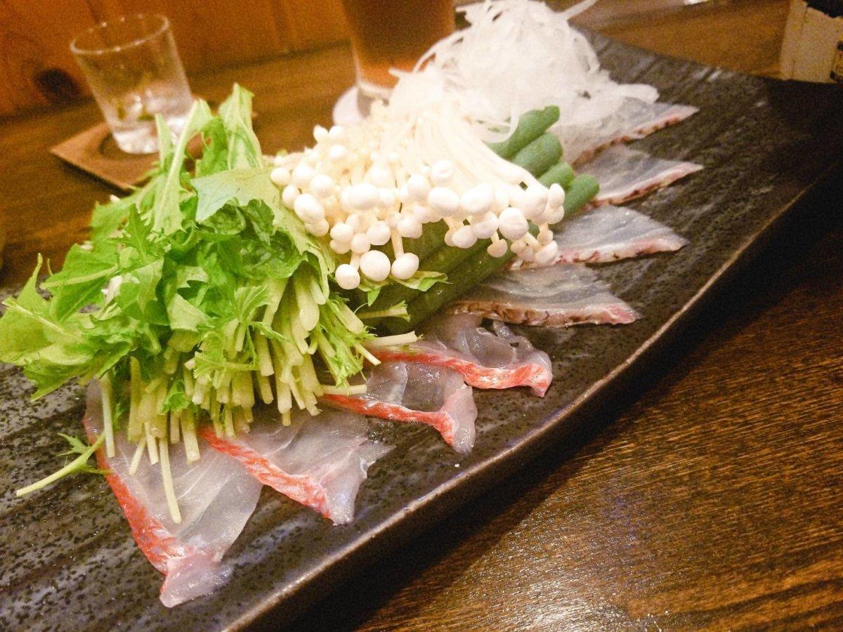 金目鯛のしゃぶしゃぶ:魚菜 由良:魚介料理・海鮮料理