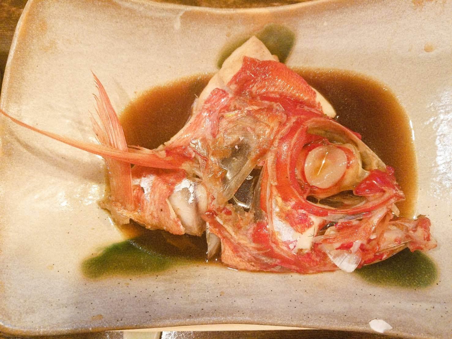 煮物 金目の煮つけ:魚菜 由良:魚介料理・海鮮料理