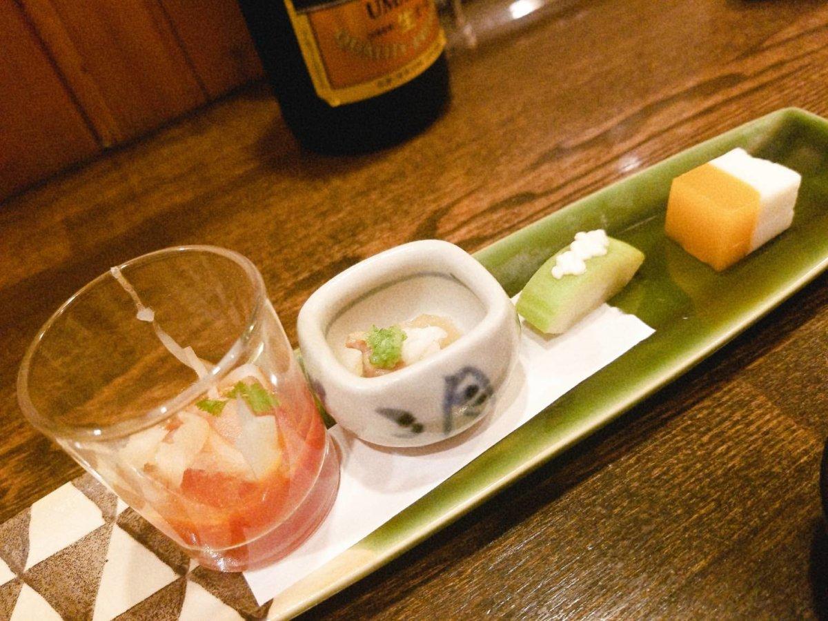 先付:魚菜 由良:魚介料理・海鮮料理