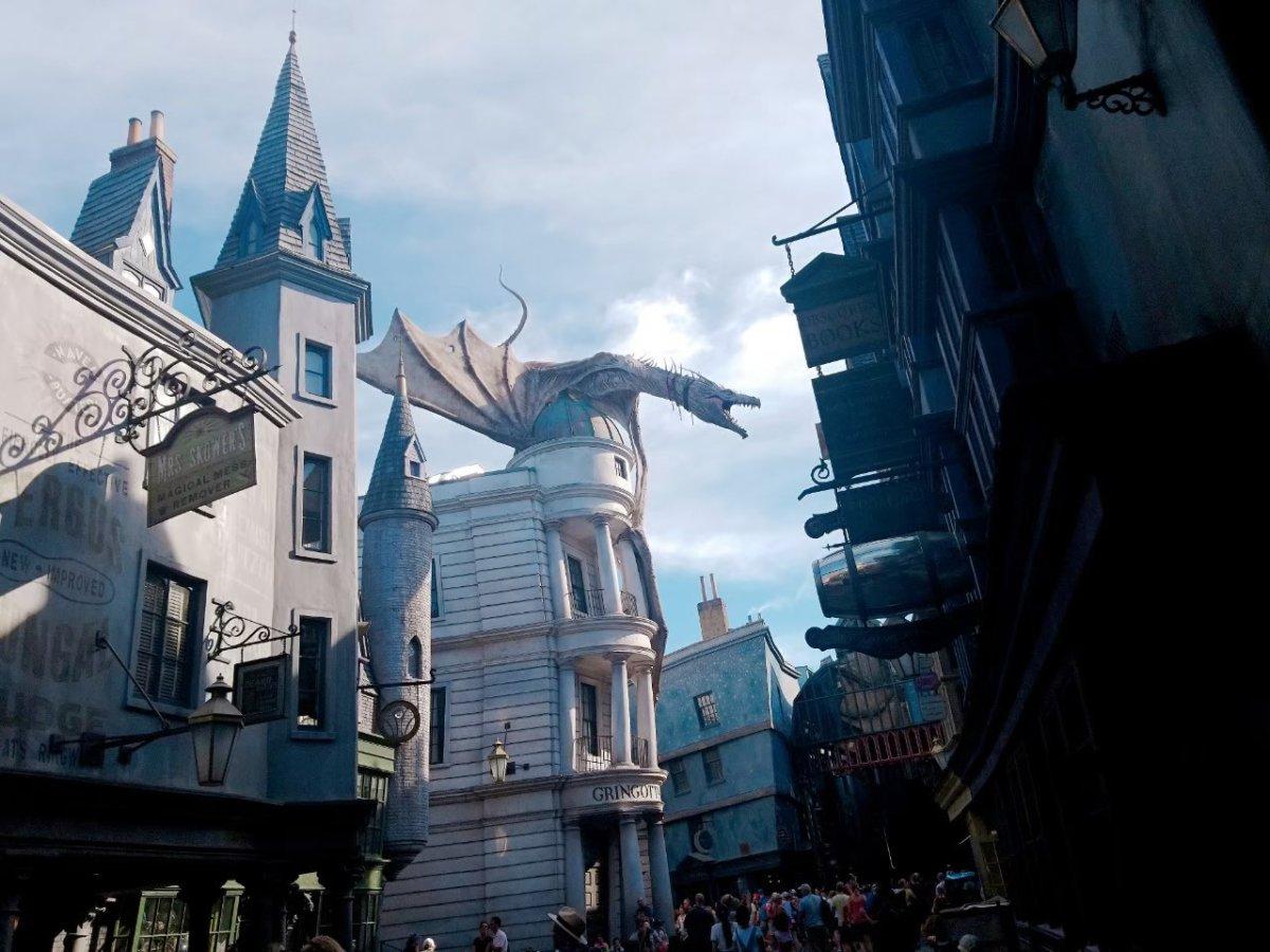 グリンゴッツ魔法銀行:今日も着ましたハリポタエリア!今日もドラゴンがカッコいい