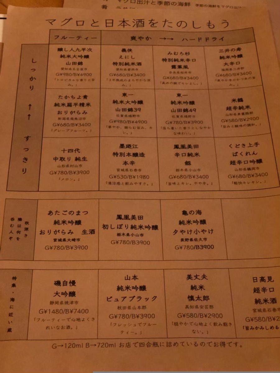 マグロマート:中野:日本酒×マグロ