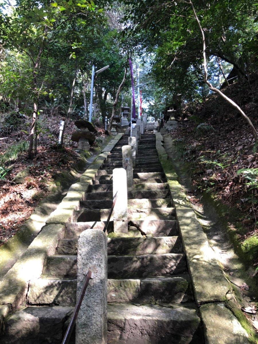 星田妙見宮:階段