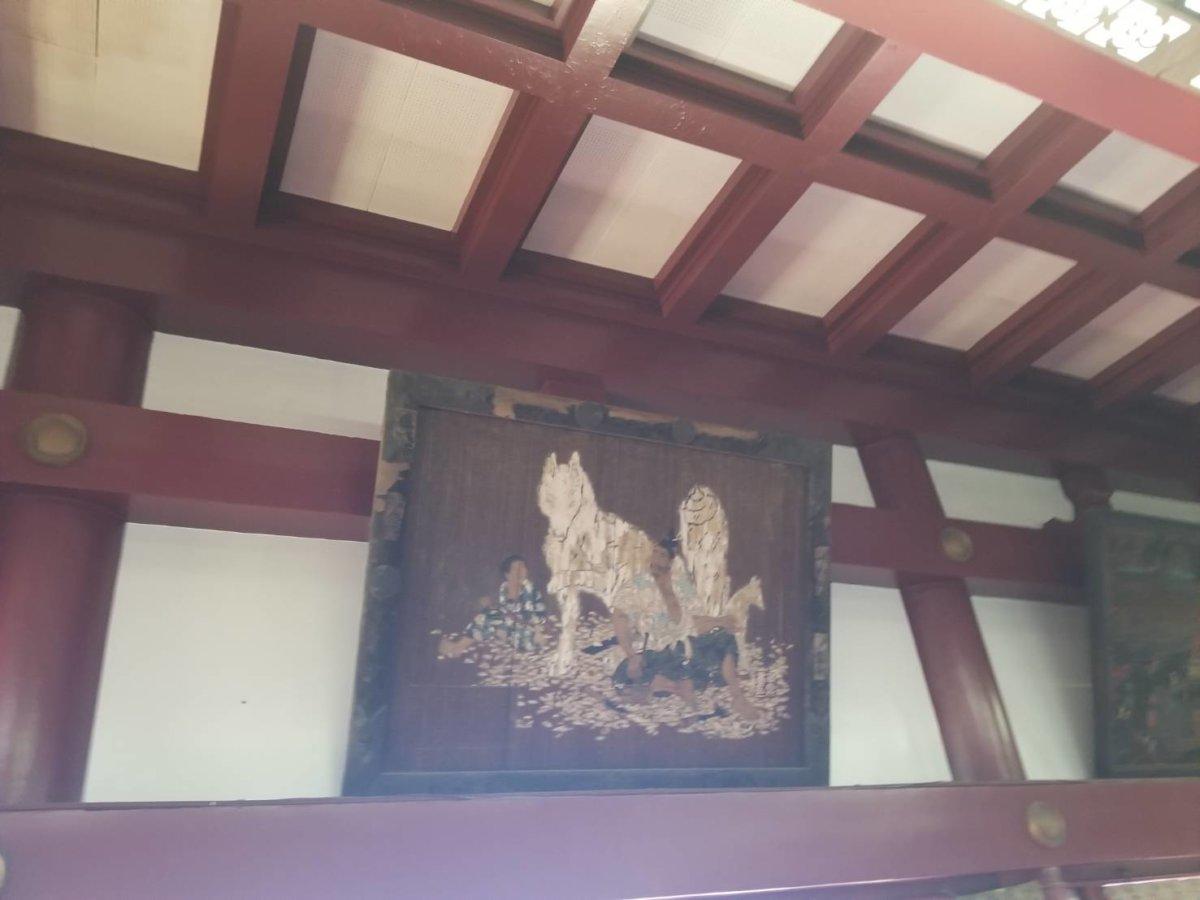 笠間稲荷神社(初詣2019)の本殿にかかったお稲荷さんの額