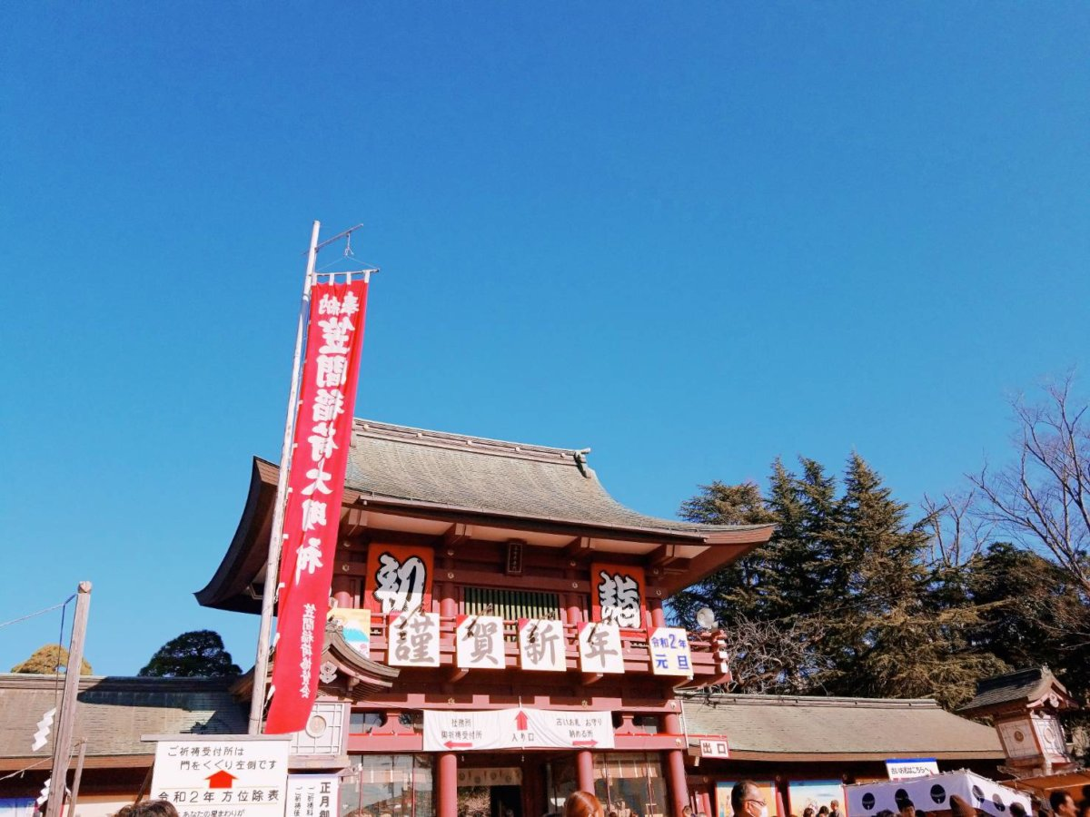 笠間稲荷神社(初詣2019)の山門