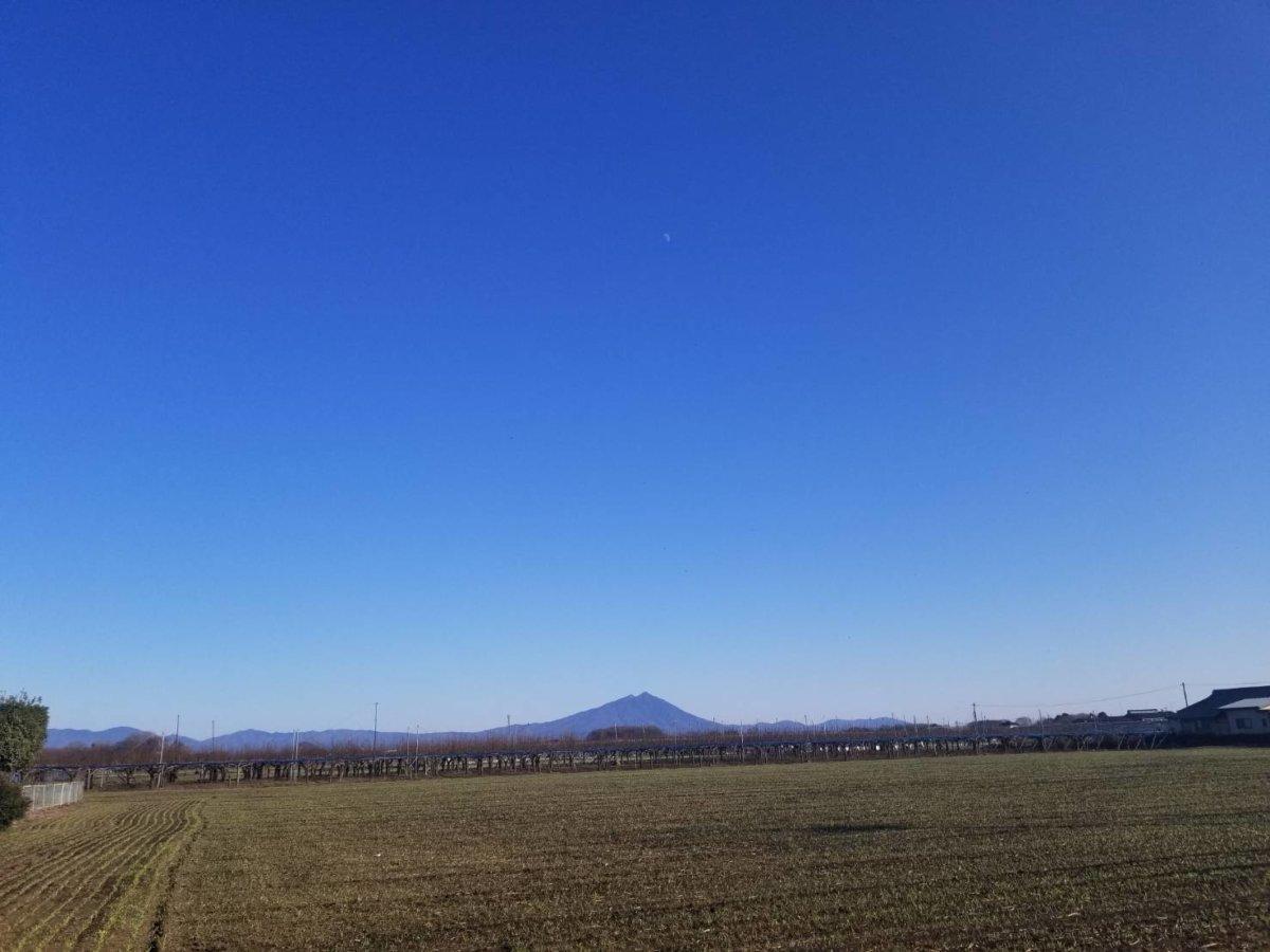 筑波山が綺麗!