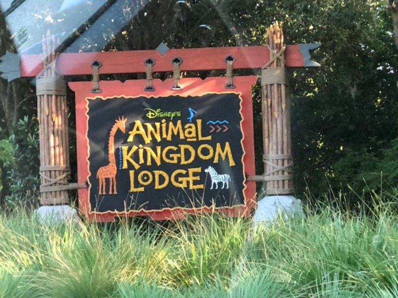 アニマルキングダムロッジ入り口!ここから数日が我々の本拠地