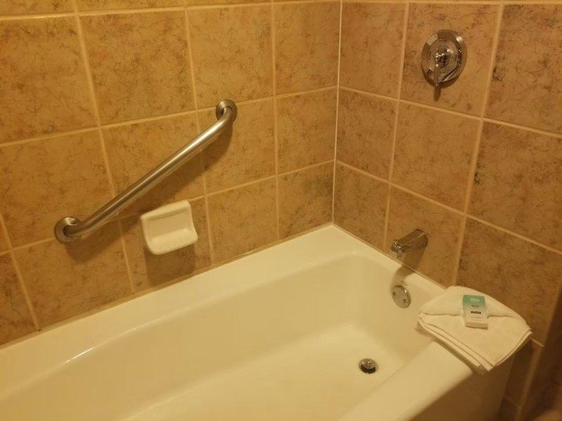 アニマルキングダム・ロッジのバスルーム。浴槽、アメリカンサイズ!