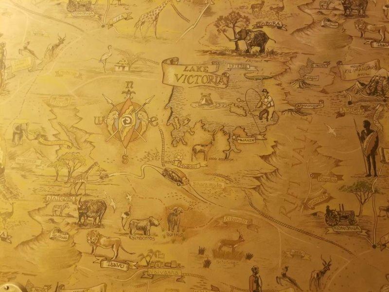 アニマルキングダム・ロッジのアフリカンテイストな壁紙。