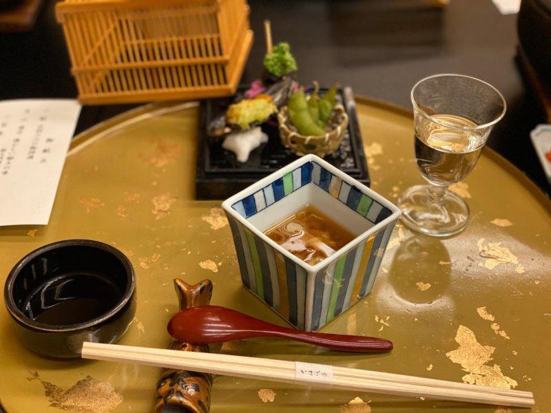 游水亭いさごや:夕食前菜