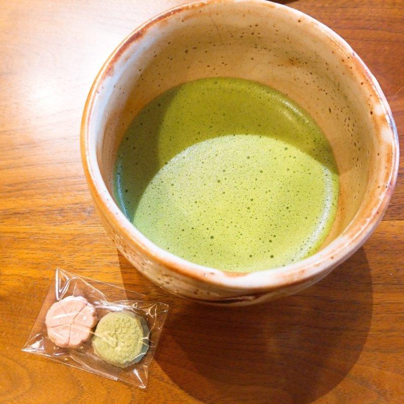 游水亭いさごや:お抹茶
