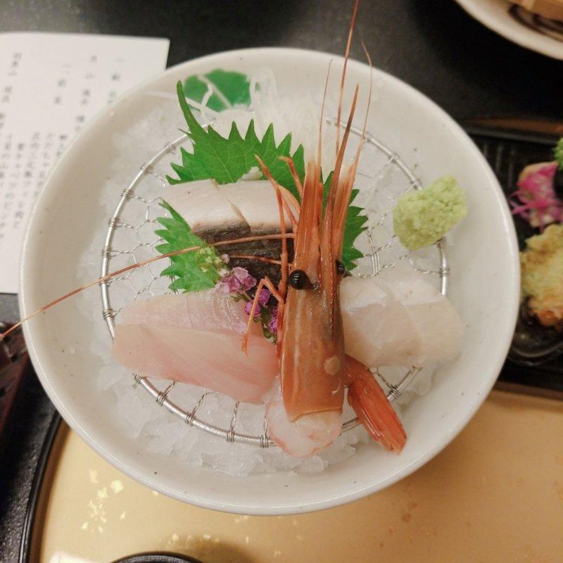 游水亭いさごや:夕食地魚盛り合わせ