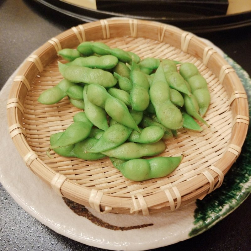 游水亭いさごや:夕食だだ茶豆